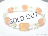 オレンジボツワナカルセドニー、ペリドット、ライトカラー天然シトリン juicy2