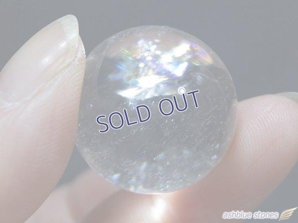 画像1: 【約23mm】レインボー水晶 スフィア 16.7g【152】冬のレインボー水晶セール
