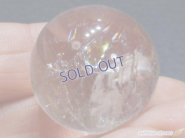 画像2: 【約23mm】レインボー水晶 スフィア 17.6g【143】冬のレインボー水晶セール