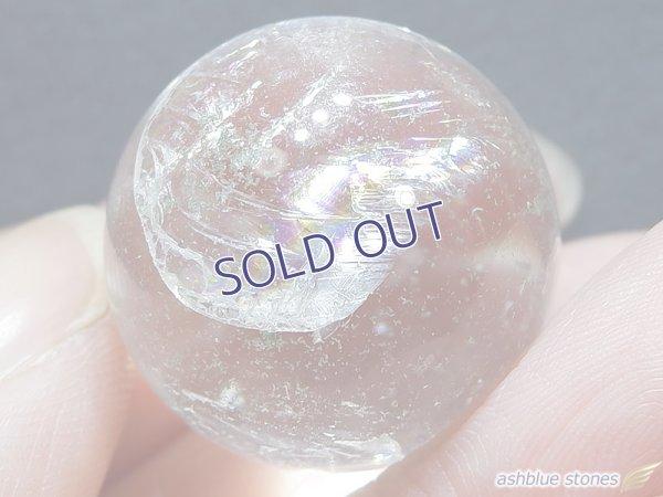 画像1: 【約23mm】レインボー水晶 スフィア ガーデン16.6g【153】冬のレインボー水晶セール