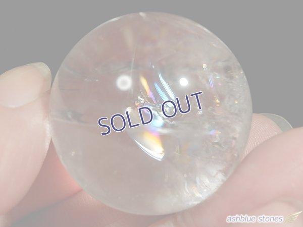 画像3: 【約30.5mm】レインボー水晶 スフィア 40.1g【113】冬のレインボー水晶セールA
