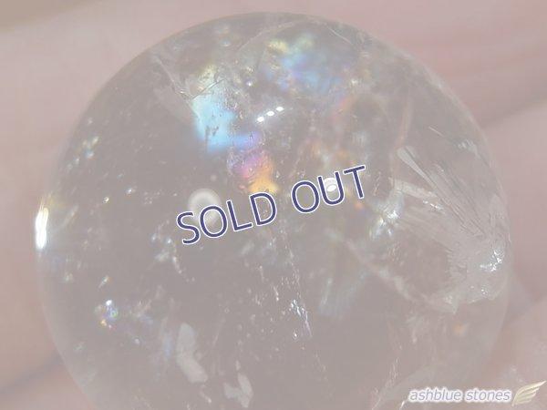 画像4: 【約23mm】レインボー水晶 スフィア 17.5g【146】冬のレインボー水晶セールA