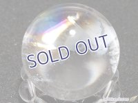 【約24mm】レインボー水晶 スフィア 18.9g【140】冬のレインボー水晶セールA