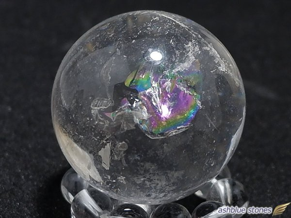 画像1: 【約28mm】レインボー水晶 スフィア 30.7g【115】冬のレインボー水晶セール