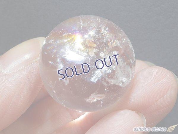 画像1: 【約23mm】レインボー水晶 スフィア 17.5g【146】冬のレインボー水晶セールA