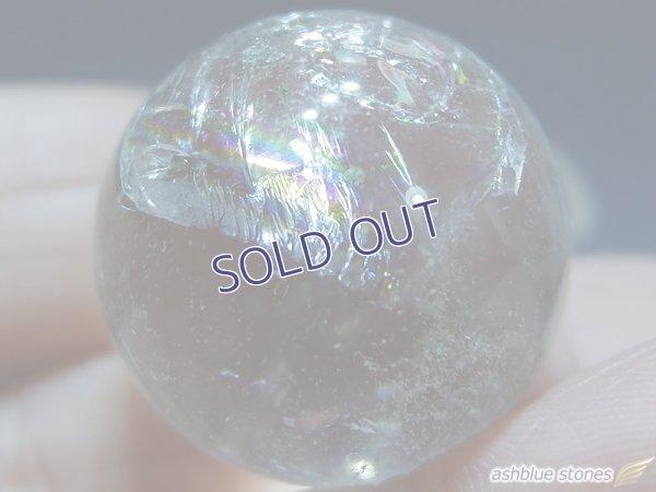 画像5: 【約23mm】レインボー水晶 スフィア ガーデン16.6g【153】冬のレインボー水晶セール