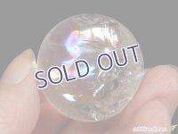 【約32mm】レインボー水晶 スフィア 45.9g【110】冬のレインボー水晶セールA
