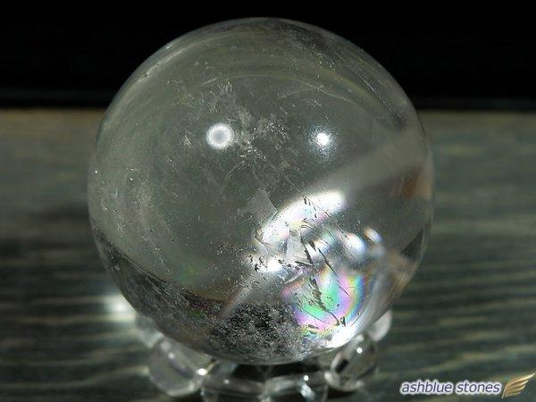 画像1: 【約32.5mm】レインボー水晶 スフィア 47.7g【107】冬のレインボー水晶セール