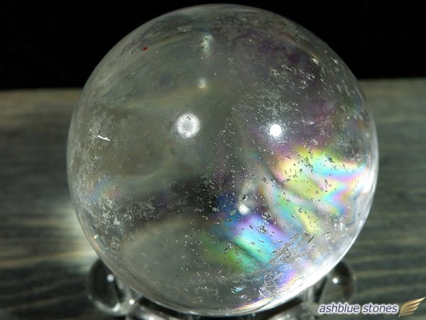 画像2: 【約28mm】レインボー水晶 スフィア 30.7g【115】冬のレインボー水晶セール