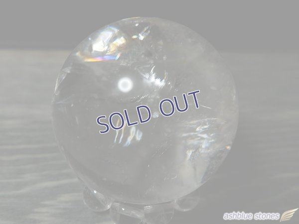 画像2: 【約32.5mm】レインボー水晶 スフィア 47.9g【106】冬のレインボー水晶セール