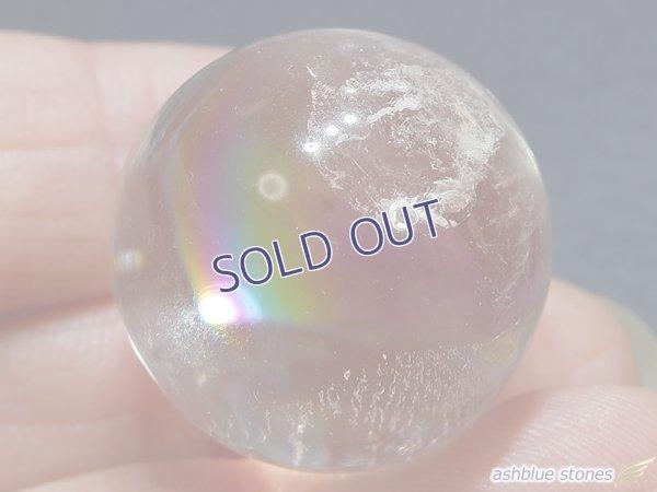 画像2: 【約23mm】レインボー水晶 スフィア 17.5g【145】冬のレインボー水晶セール