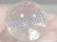 【約32mm】レインボー水晶 スフィア 47.2g【109】冬のレインボー水晶セール