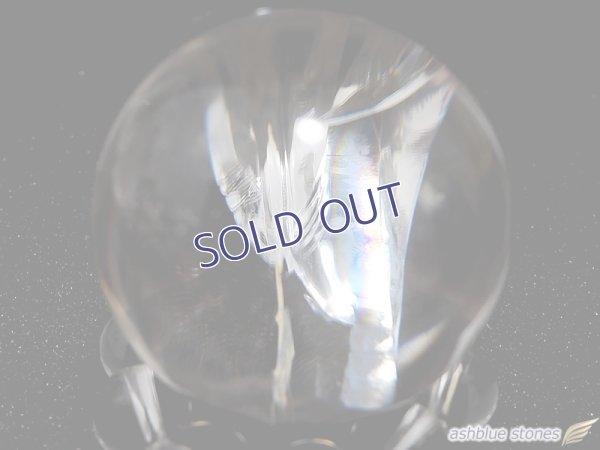 画像2: 【約24.5mm】レインボー水晶 スフィア 21.1g【134】冬のレインボー水晶セール