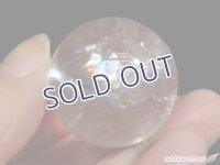 【約30.5mm】レインボー水晶 スフィア 40.1g【113】冬のレインボー水晶セールA