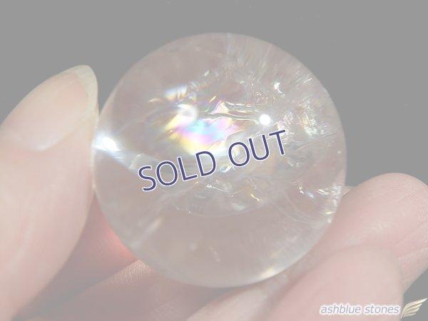 画像1: 【約30.5mm】レインボー水晶 スフィア 40.1g【113】冬のレインボー水晶セールA