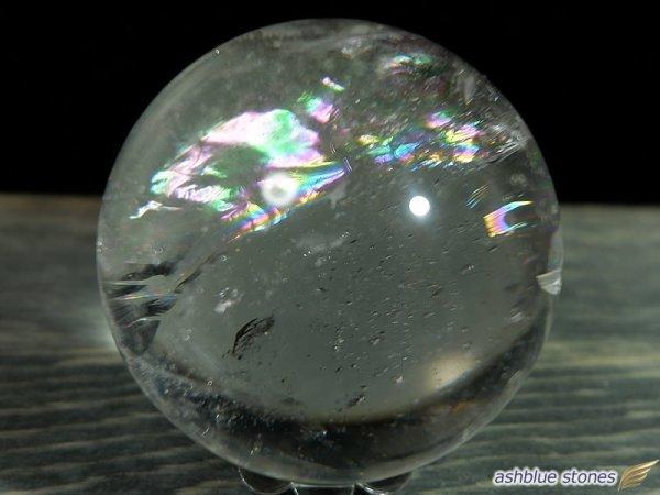 画像2: 【約42.2mm】レインボー水晶 スフィア 107.3g【103】