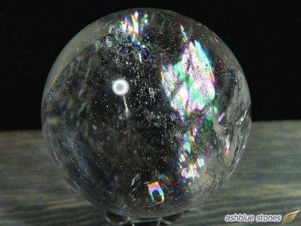 画像3: 【約42.2mm】レインボー水晶 スフィア 107.3g【103】