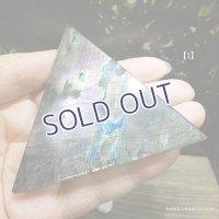 ラブラドライト 磨き三角プレート【1】59.8g
