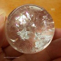 【約38.5mm】レインボー水晶 スフィア 80.3g【101】