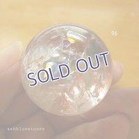 【約32.5mm】レインボー水晶 スフィア 48.9g【96】