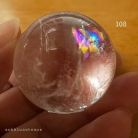 【約32.5mm】レインボー水晶 スフィア 47.7g【108】