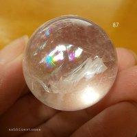 【約29.8mm】レインボー水晶 スフィア 36.5g【87】