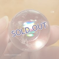 【約24mm】レインボー水晶 スフィア 19.8g【138】