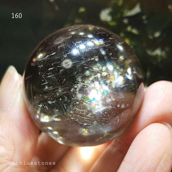 画像3: 【約37mm】レインボー水晶 スフィア 73g【160】