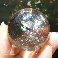 【約37mm】レインボー水晶 スフィア 73g【160】