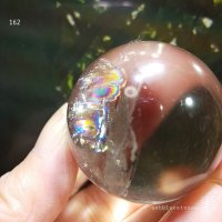 【約37.8mm】レインボー水晶 スフィア 75.9g【162】