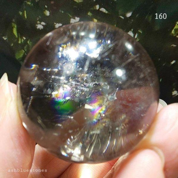 画像2: 【約37mm】レインボー水晶 スフィア 73g【160】